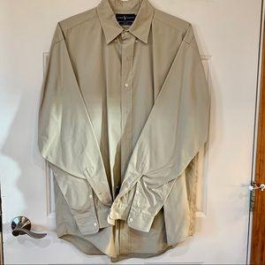 Ralph Lauren Long Sleeve Blake Khaki Shirt Size L